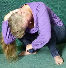 Polarity therapy youth posture with neck stretch